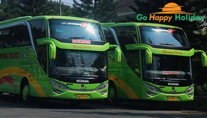 Sewa bus pariwisata di Mojokerto Terbaru murah