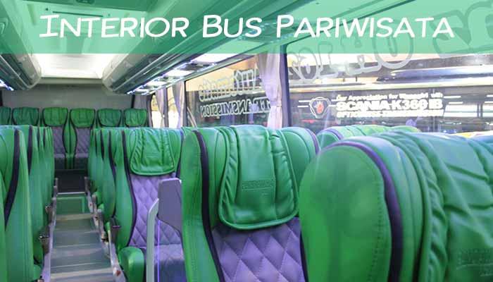 Interior Daftar Harga Sewa Bus Pariwisata di Surabaya Terbaru Murah